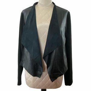 Torrid Black Faux Leather Open Front Jacket Size 3